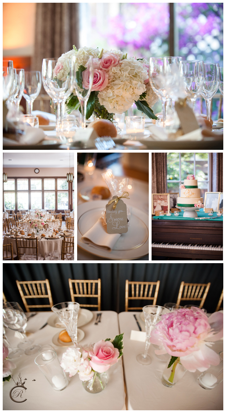 Gold & Pink Reception Details • Carrie Richards Photography