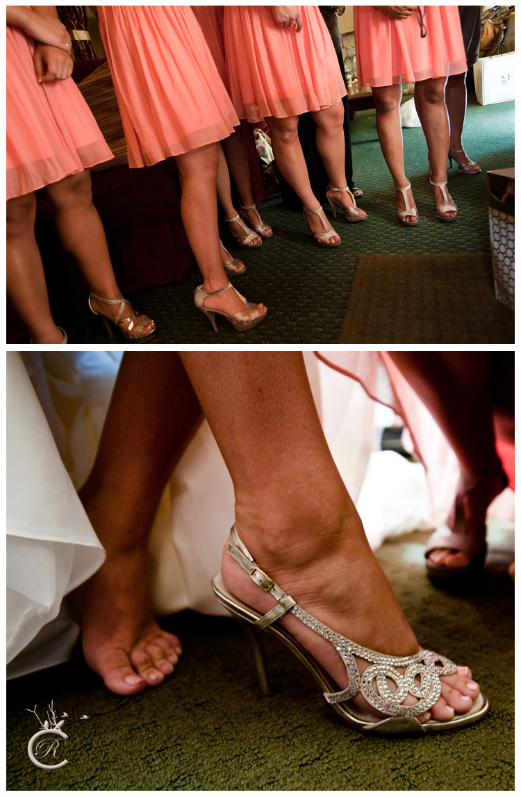 Bridesmaids and bride shoes!
