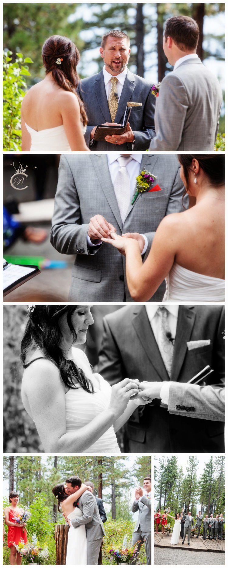 Wedding Ceremony at Bristlecone Lakehouse • Carrie Richards Photography