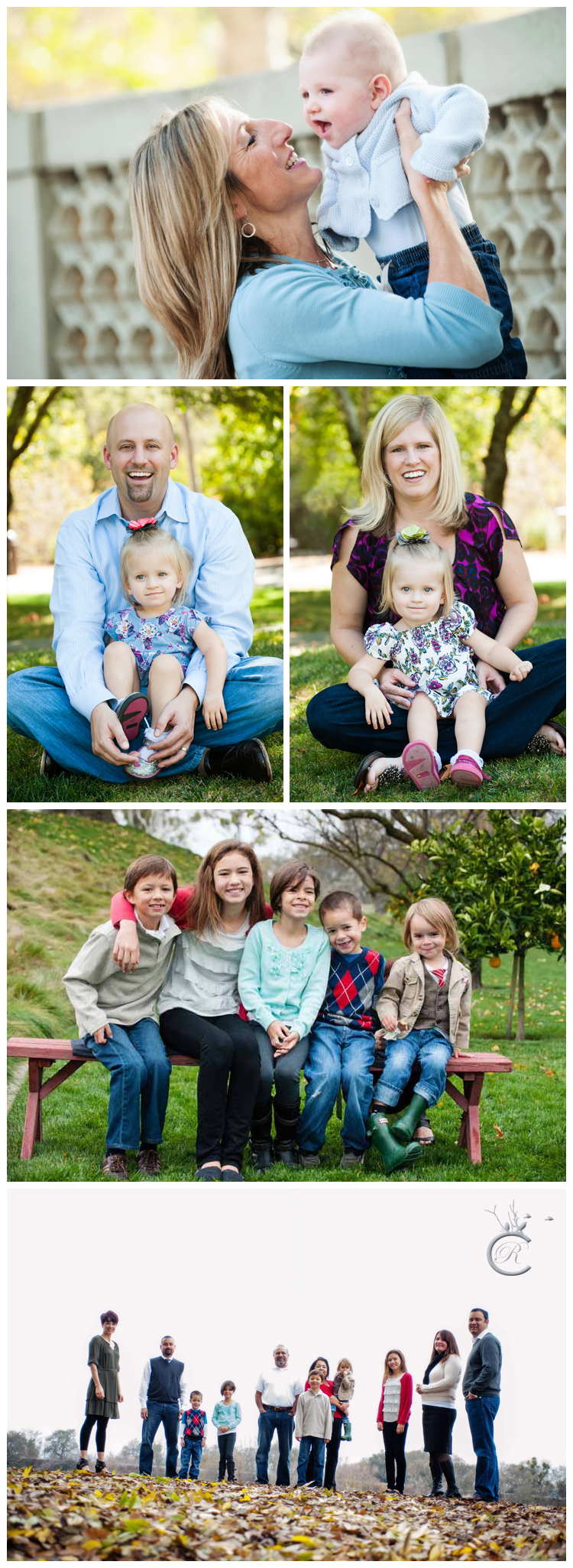 Outdoors family portraits | Carrie Richards Photography