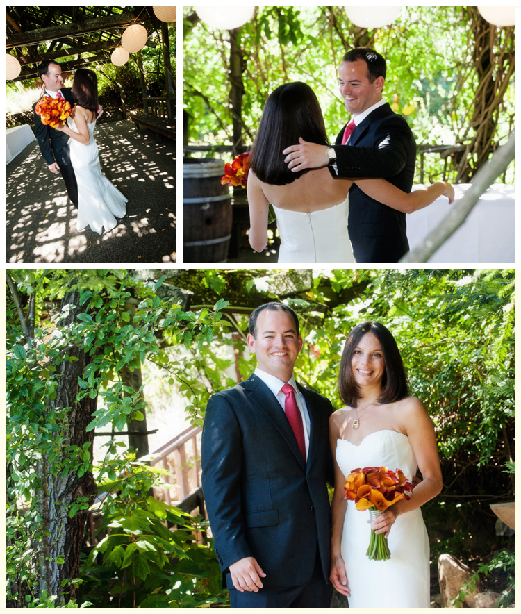 Couple's first look • Carrie Richards Photography