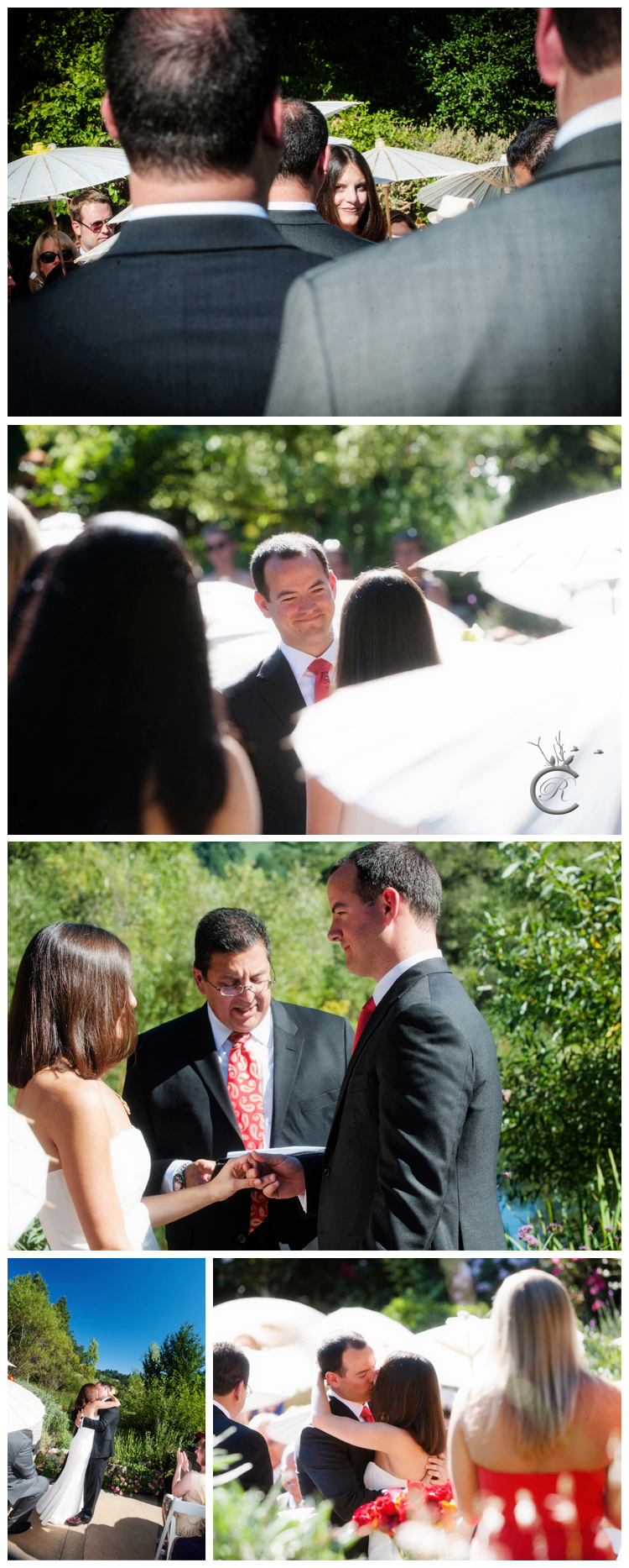 Wedding Ceremony at Hans Fahden Winery • Carrie Richards Photography