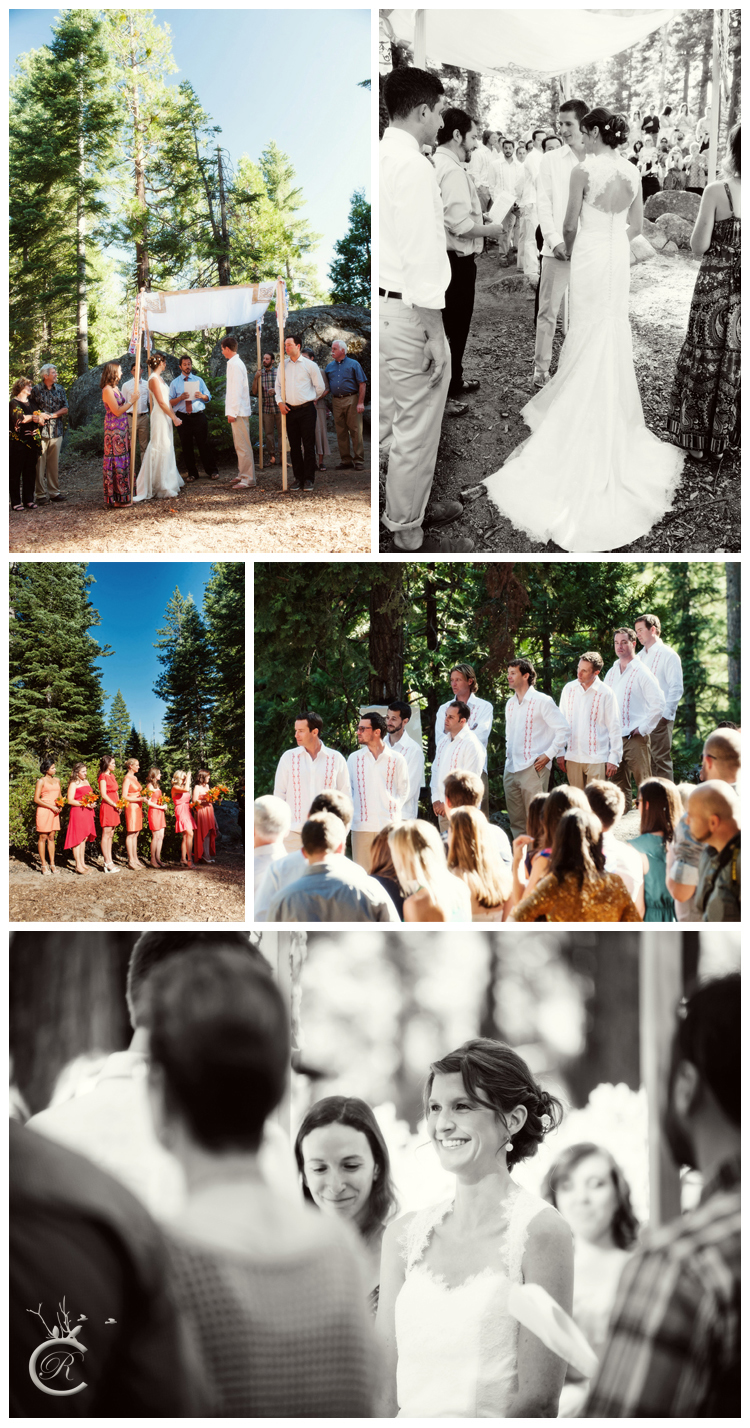 Outdoor wedding ceremony at Lair of the Golden Bear