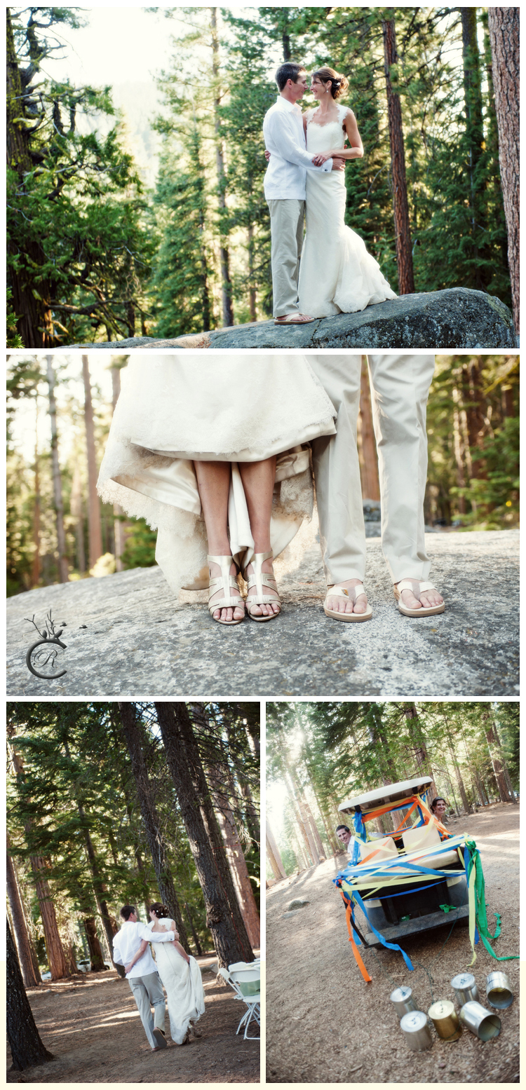 Fun wedding portraits in the woods | Carrie Richards Photography