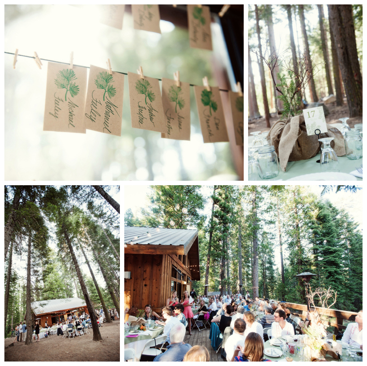 Outdoors wedding details at Lair of the Golden Bear
