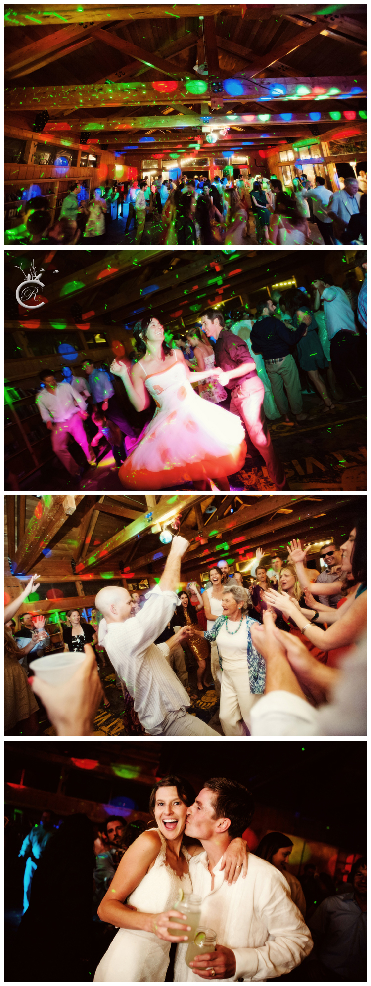 Fun, colorful wedding dancing photos | Carrie Richards Photography