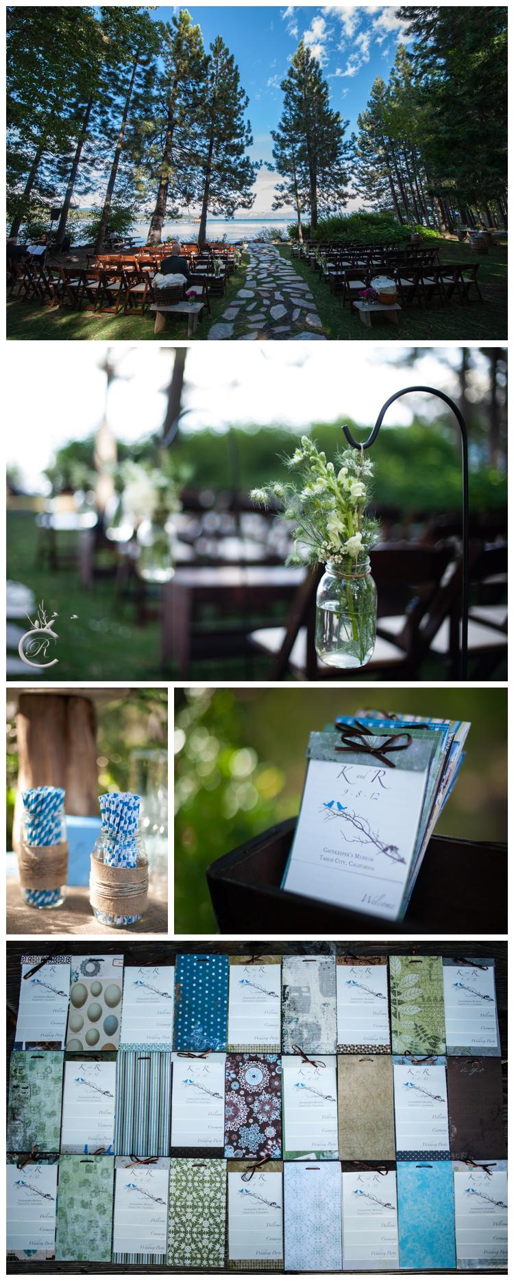 Outdoor Lake Tahoe wedding ceremony