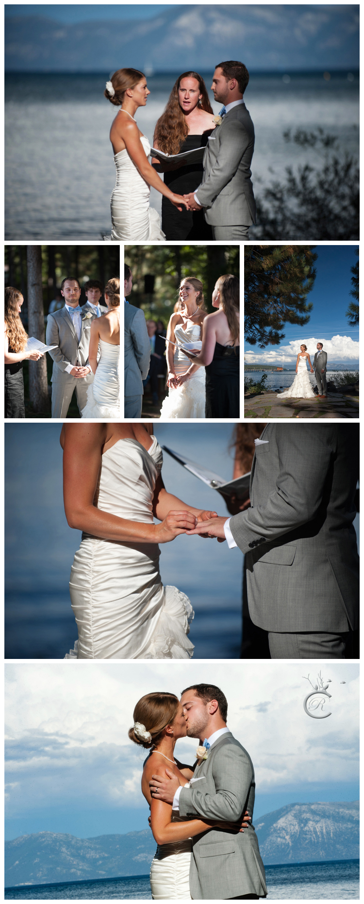 Ceremony with Lake Tahoe as backdrop