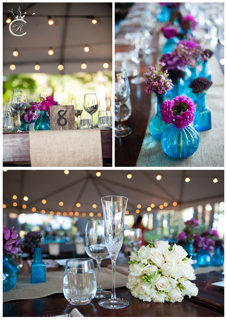 Purple and blue wedding theme