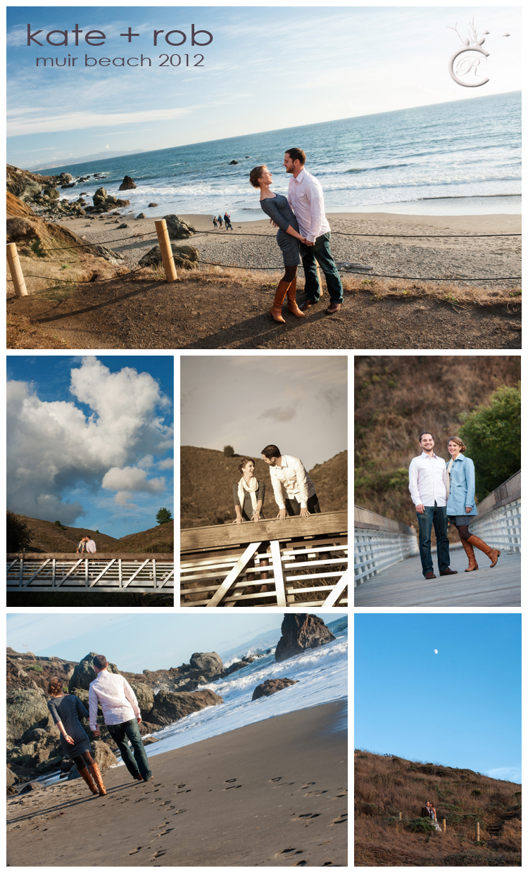 Couple's portraits at Muir Beach