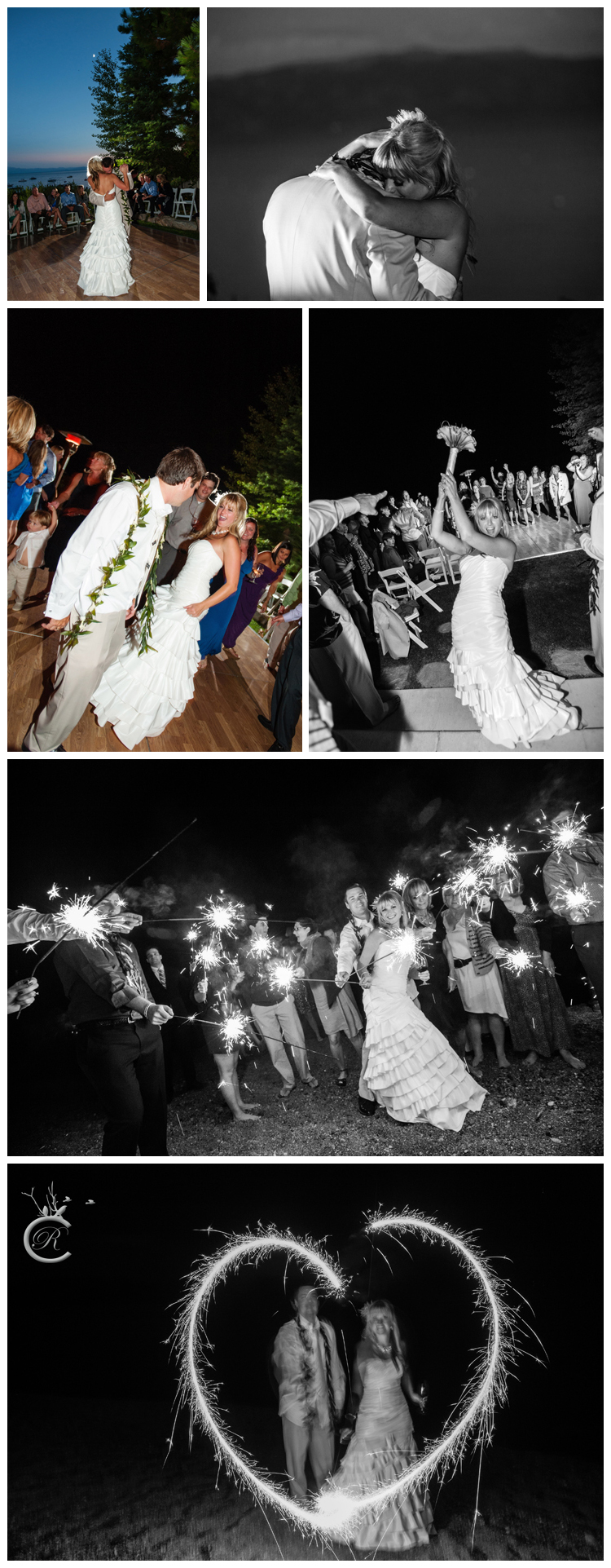 Fun sparklers at the wedding