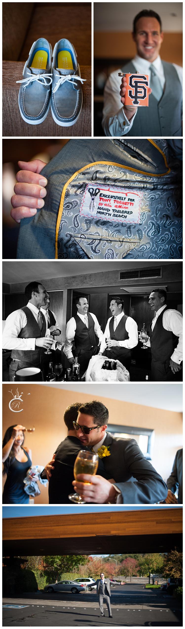 Fun SF Giants flask for the groom!