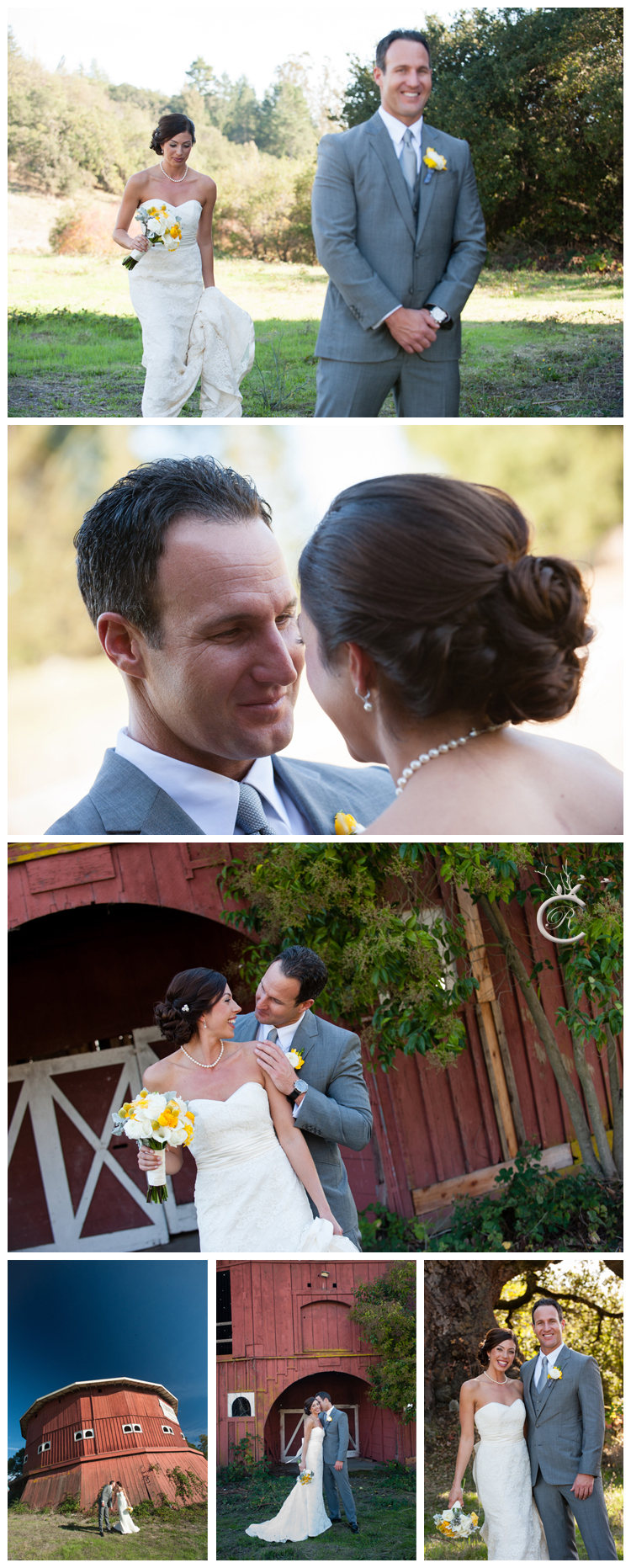 Bridal portraits at the barn at St. Francis Winery