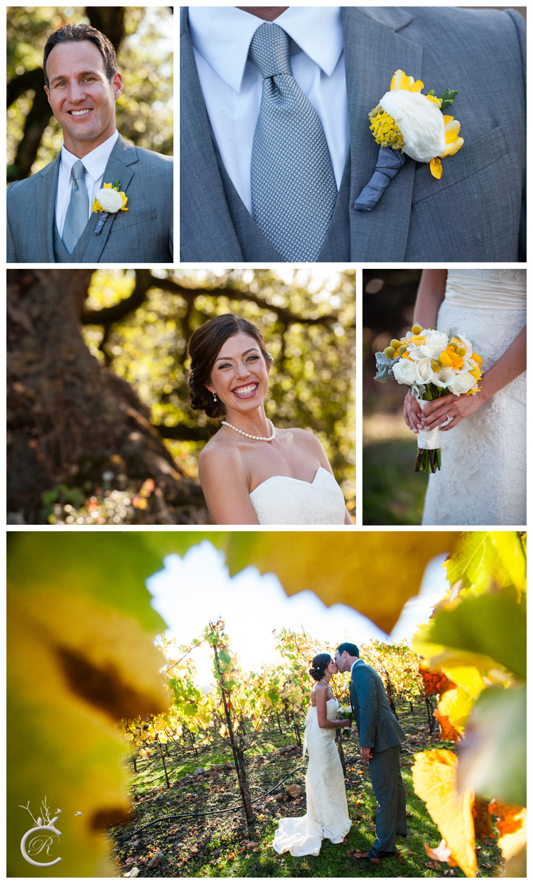 Gorgeous outdoor winery couple portraits