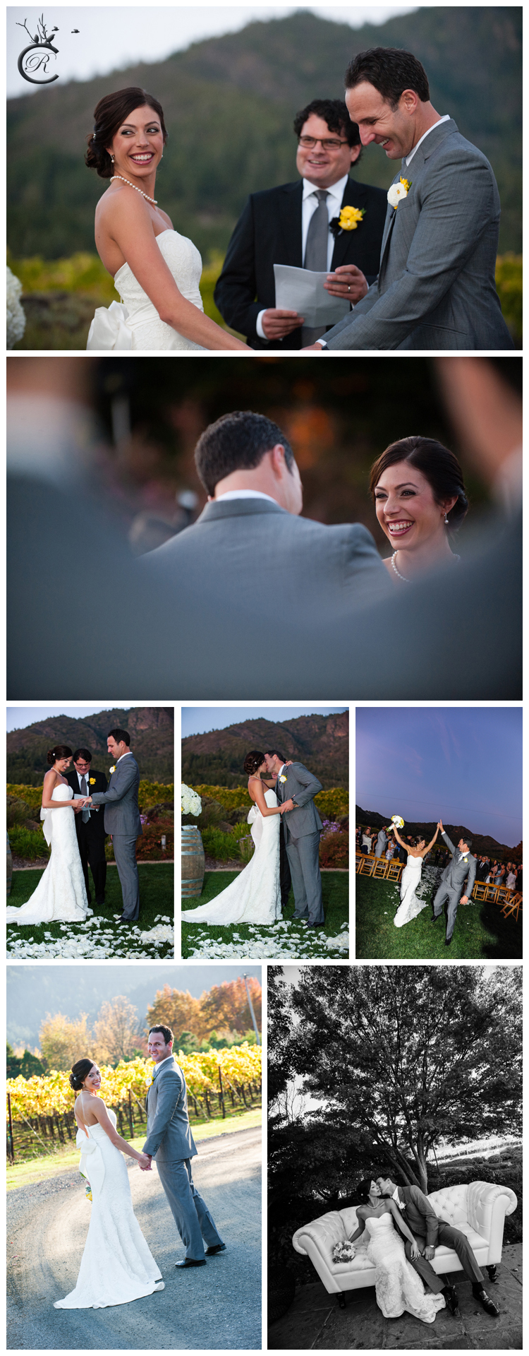 Outdoor ceremony at St. Francis Winery