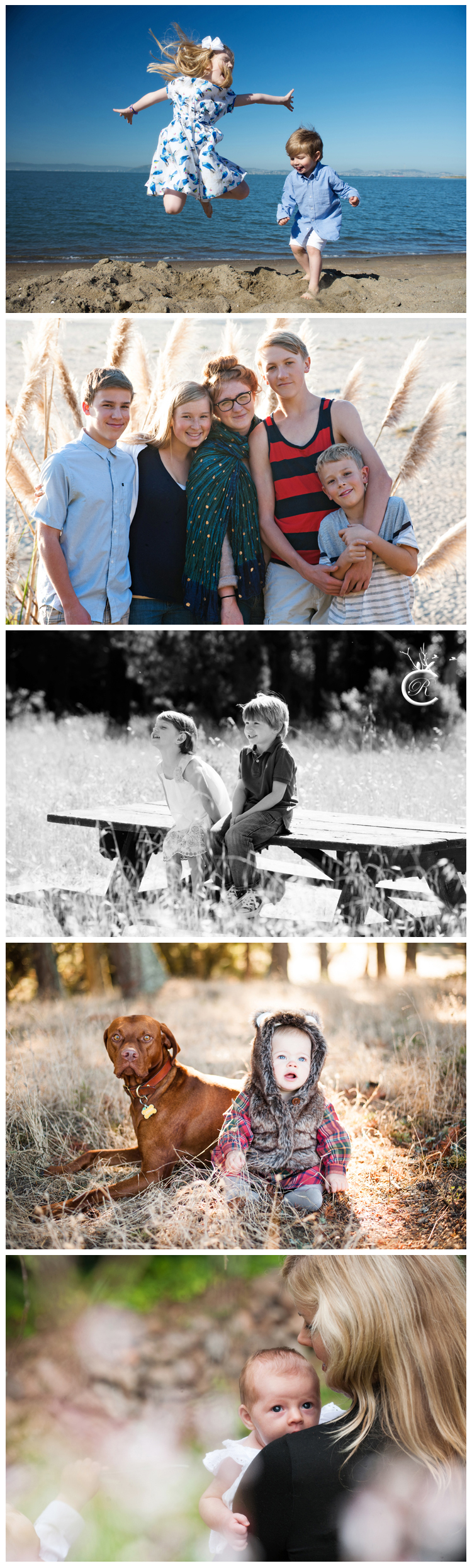 Beach and woodland family portraits • Carrie Richards Photography