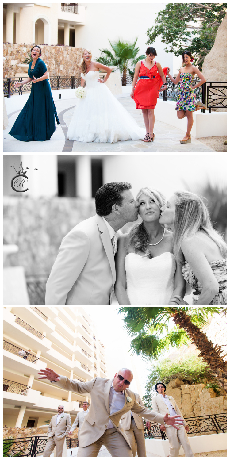 Fun wedding party portraits • Cabo San Lucas, Mexico wedding