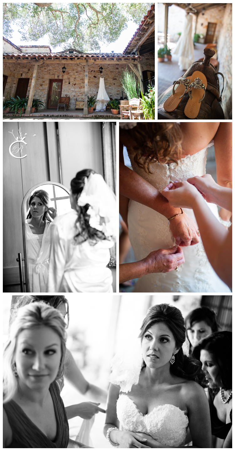 Bridal preparations at Holman Ranch Vineyards
