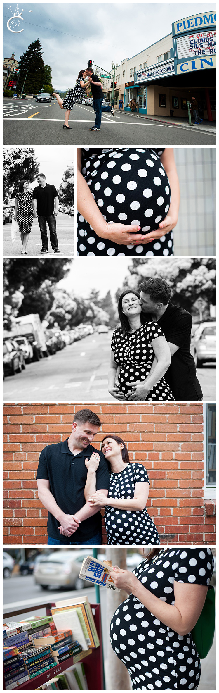 Maternity photography session on Piedmont Avenue in Oakland, Ca